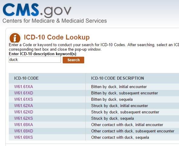 icd-10-duck